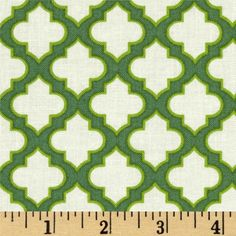Heather Bailey Up Parasol Trellis Loden from @fabricdotcom  Designed by Heather Bailey for Free Spirit, this cotton print is perfect for quilting, apparel and home decor accents.  Colors include off white, lime and green.