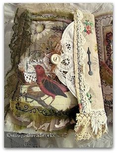 http://suziqusthreadworks.blogspot.co.uk/2013/05/another-nature-fabric-and-lacebook.html - love this!