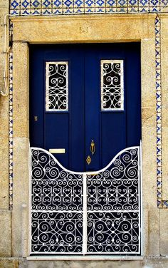 Entry. Door. Pattern. Color. Barcelos, Portugal. That blue, that blue!!