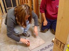 How to Install a Tile Bathroom Floor | how-tos | DIY
