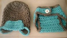 Newborn Hat and Diaper Cover by TristellaCreations on Etsy