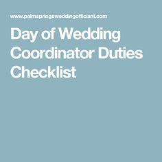 The To-Do List for a Wedding Coordinator | Weddings, Wedding ...