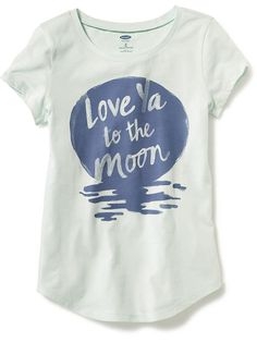 Crew-Neck Graphic Tee for Girls
