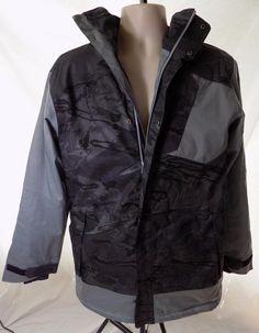 UNDER ARMOUR Grey Print Storm Zip Front Hooded Men's Jacket M NEW #UnderArmour #BasicCoat