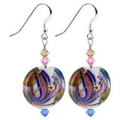 dangle earrings with glass beads - Google Search