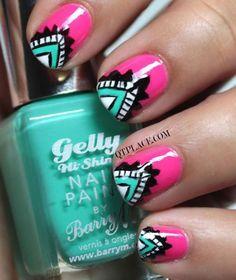 Sizzlin Summer Nails 15 Nail Art Designs Were Loving Divine Caroline Aztec Nail Designs, Pretty Nail Designs, Nail Art Designs, Nail Art Tribal, Tribal Nails, Pretty Nail Colors, Pretty Nails, Nails For Kids, Nail Polish Art