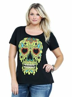 4f2dcba07f6 Sugar Skull Graphic Tee. Plus Size ShirtsTrendy Plus Size ClothingPlus ...