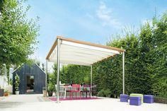 Quiet co-managed raised porch design Pergola Plans, Pergola Kits, Pergola Ideas, Screened In Porch, Porch Swing, Porch Kits, Steel Pergola, Building A Porch, Parasols