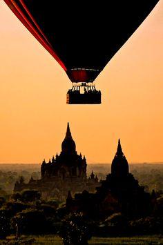 #Bagan in #Myanmar by Hot Air Balloon... http://www.danflyingsolo.com/2015/07/20/burma-photo-myanmar-travel-plan/