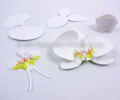 Paper Zen: Paper Orchid Birthday Card - how to assemble paper orchids #Silhouette #PaperCraft