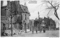 Place du Canada, Valenciennes, apres la guerre 1914-1918.