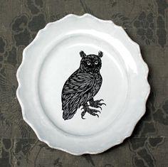 PATCH NYC - HOME DECOR - OWL MEDIUM PLATE {ASPPTC15}