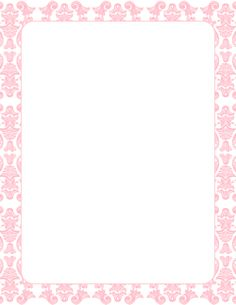 Free Page Borders Featuring A Pink Color Scheme The Are Available In Various Formats Including JPG PDF PNG And More