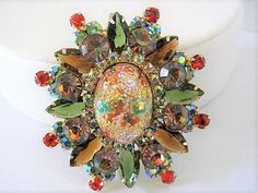 Excited to share the latest addition to my #etsy shop: Juliana Rhinestone Brooch,  DeLizza & Elster,  Easter Egg Center Stone, Glorious Sparkler, Vintage Pin