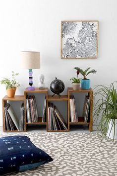 Assembly Home Shift Shelf I need this for my records! Assembly Home Shift Shelf I need this for my records! Crate Bookshelf, Bookshelves, Bookcase, Bookshelf Ideas, Home Furniture, Furniture Design, Vinyl Storage, Lp Storage, Record Storage
