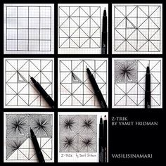 zentangle pattern tutorial зентангл урок мк