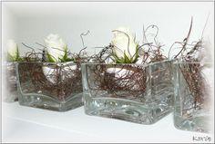 Afgewerkt bloemstuk voor op de Paastafel