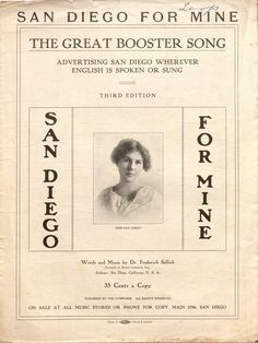 San Diego for Mine.  Vince Meades Sheet Music Collection.