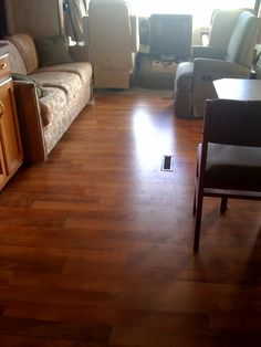 Wood flooring for RV with slide | RV.Net Open Roads Forum: Replacing the carpet in a class A