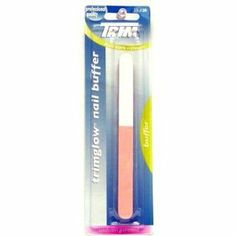 Trim Trimglow (Pack of 6) by Trim. $13.20. Gently Strokes to give you an Amazing Shine.. Smoothes Ridges and Removes Stains.. Follow these three easy steps to naturally beautiful nails: Pink buff: Smooth ridges and remove stains easy strokes across the nail. Repeat every 2 to 3 weeks. White Buff: Easy strokes across the nail for smooth, matte foundation before final shine. Repeat every 1 to 2 weeks Grey Buff: Apply light pressure while stroking across the nail and bring out an am...