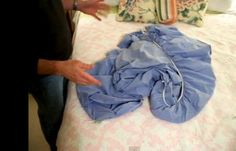 How You Normally Fold a Fitted Sheet!