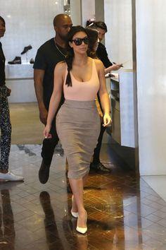Kim explores Paris on May 19, 2014.
