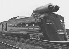 jet powered train - New York Central Railroad engineer, Don Wetzel, ran his train at 196 mph (confirmed at 180 mph) in 1966 and still to this day, it holds the record for being the fastest self propelled train.