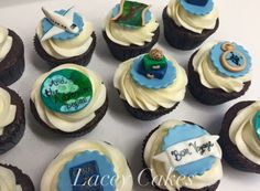 Travel theme cupcakes