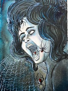 Excited to share this item from my #etsy shop: Spider Woman PAINTING #horrorpainting #horrorart