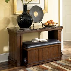 Pieces Console Table With Ottoman