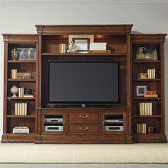 Clermont Four Piece Entertainment Group With 2 Drawers By Hooker Furniture