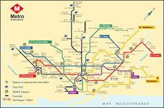 Plano del Metro de Barcelona #infografia #infographic #maps