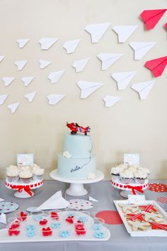 Airplane themed birthday party party inspirations Pinterest