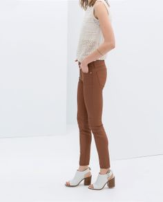 COATED TROUSERS - Trousers - WOMAN | ZARA Czech Republic