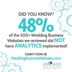 Bon Accord Creative reviewed over 500 wedding industry websites. Find out how wedding vendors scored! www.WeddingBusinessWebsites.com