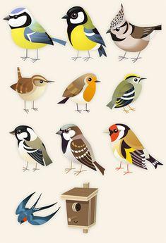 Paper Birds, Felt Birds, Bird Illustration, Illustrations, Cardboard Animals, Animal Templates, Bird Quilt, Origami Bird, Bird Drawings