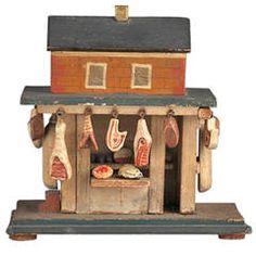Extraordinary Miniature Butcher's Shop Model