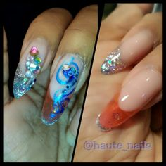 Stiletto and pipe nails nailart @haute_nails