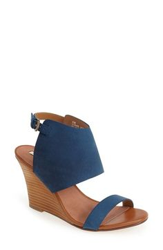 Free shipping and returns on Halogen® 'Clarette' Suede Wedge Sandal (Women) at Nordstrom.com. A slender strap across the vamp and an open-back shield cuff make this suede sandal a modern standout, while a curvy stacked wedge heel adds to the contemporary vibe.
