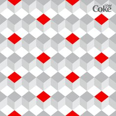 Diet Coke-inspired cube pattern. Comment with your ideas for how you'd download and use it.