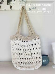 Market tote crochet pattern Rescued Paw Designs6