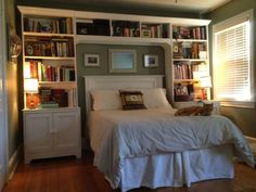 SIGH. I would LOVE something like that in an extra bedroom - you know, not exactly a guest bedroom but one of those bookish retreats where you can just close the door on the world and be surrounded by books. And a comfortable place for a nap, of course! LOVE LOVE LOVE!