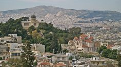 Agia Marina church was built in 1922 just below the National Observatory. Acropolis, Athens, Paris Skyline, The Neighbourhood, Walking, City, Building, Travel, The Neighborhood