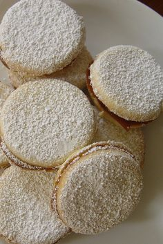 Of all the recipes my Peruvian mother prepared for my twin sister, Carla, and me over the years, alfajores (dulce de leche sandwich cookies) have always stood Peruvian Desserts, Peruvian Dishes, Peruvian Cuisine, Peruvian Recipes, Ceviche, Cookie Recipes, Dessert Recipes, Good Food, Yummy Food