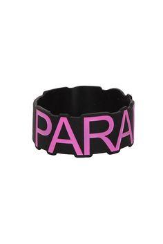 Best Bracelet 2017/ 2018 : Paramore Pink Logo Die-Cut Rubber Bracelet | Hot Topic