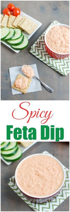 Made with just six ingredients, this Spicy Red Pepper Feta Dip recipe is the perfect party appetizer. It's full of flavor and tastes great with crackers or vegetables!