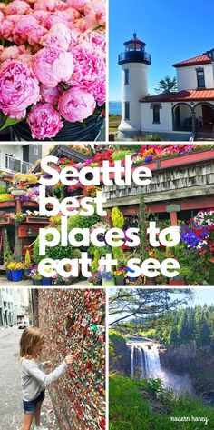Travel Guide to Seattle. The Best Places to Eat and See in Seattle Washington. The ultimate travel guide of things to do in Seattle and places to eat in Seattle. The most popular places to visit in Seattle. Washington Things To Do, Seattle Washington, Washington State, Vancouver Seattle, Camping Places, Places To Travel, Travel Destinations, Best Places To Eat, Viajes