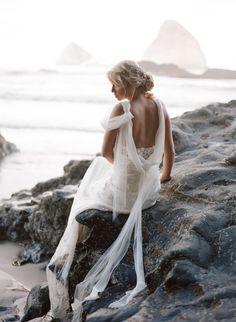 Stunning beachy inspiration shoot: http://www.stylemepretty.com/oregon-weddings/2015/09/04/romantic-seaside-bridal-boudoir-inspiration/ | Photography: Archetype Studio - http://archetypestudioinc.com/
