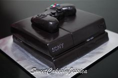 PS4, PS4 cake, male birthday cake