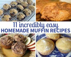 11 Incredibly Easy Homemade Muffin Recipes #justapinchrecipes